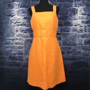 Ann Taylor Loft Tangerine Linen Dress